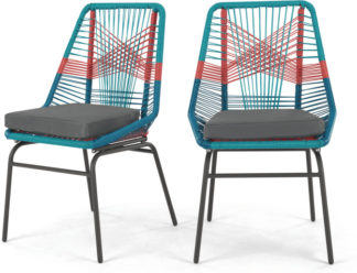 An Image of Set of 2 Copa Garden Dining Chairs, Multi