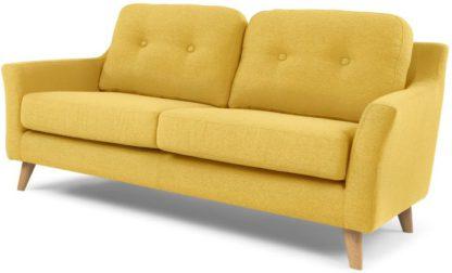 An Image of Rufus 2 Seater Sofa, Mustard Yellow