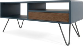 An Image of Ukan Media Unit, Blue and Dark Stain Oak