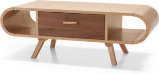 An Image of Fonteyn Coffee Table, Oak and Walnut