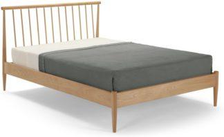 An Image of Penn Double Bed, Oak