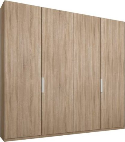 An Image of Caren 4 door 200cm Hinged Wardrobe, Oak Frame, Oak Doors, Standard Interior