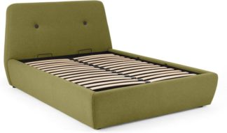 An Image of Edwin Super King Size Bed with Storage, Juniper Green