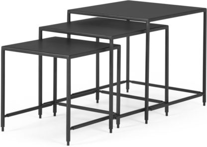 An Image of Solomon Nest of 3 Side Tables, Black
