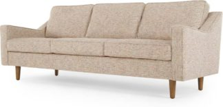 An Image of Dallas 3 Seater Sofa, Amber Basketweave