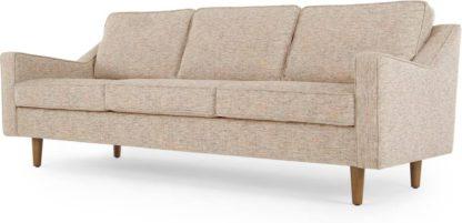 An Image of Dallas 3 Seater Sofa, Amber Basketweave