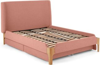 An Image of Roscoe Double Bed With Storage Drawers, Dusk Pink