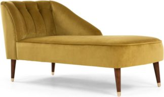 An Image of Margot Right Hand Facing Chaise Longue, Antique Gold Velvet