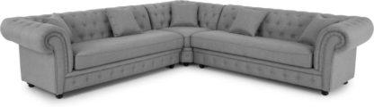 An Image of Branagh Corner Sofa, Pearl Grey