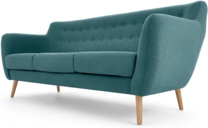 An Image of Rana 3 Seater Sofa, Mineral Blue