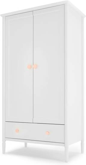 An Image of Hansel Wardrobe, White and Copper