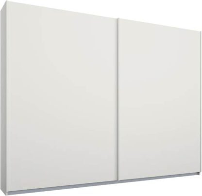 An Image of Malix 2 door 225cm Sliding Wardrobe, White frame,Matt White doors, Standard Interior