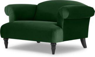 An Image of Claudia Loveseat, Velvet Forest Green
