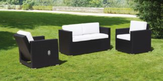 An Image of Cubo Black and Ivory Lounge Set