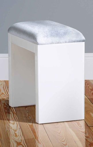 An Image of White Glass Stool