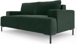 An Image of Frederik 2 Seater Sofa, Autumn Green Velvet