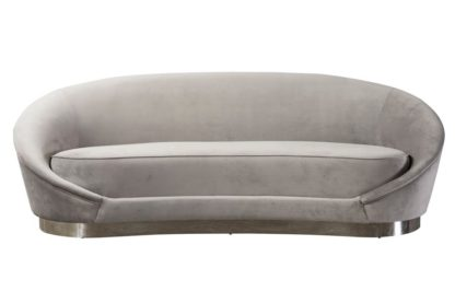 An Image of Selini Three Seat Sofa - Dove Grey