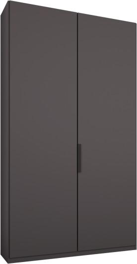 An Image of Caren 2 door 100cm Hinged Wardrobe, Graphite Grey Frame, Matt Graphite Grey Doors, Classic Interior
