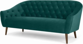 An Image of Tallulah 3 Seater Sofa, Seafoam Blue Velvet