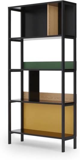 An Image of Duncan Shelving Unit, Multicolour