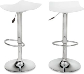 An Image of Set of 2 Kite Adjustable Barstools, White