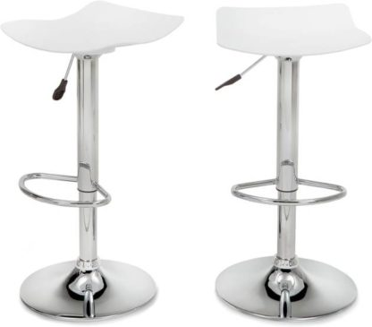 An Image of Set of 2 Kite Adjustable Barstools, White