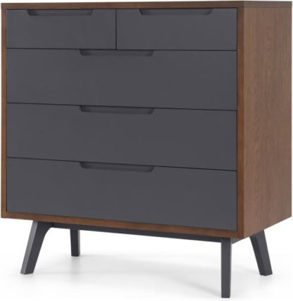 An Image of Jenson Chest Of Drawers Dark stain and Grey