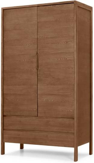 An Image of Ledger wardrobe, dark stain ash