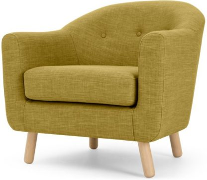 An Image of Lottie Armchair, Olive Green