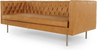 An Image of Julianne 3 Seater Sofa, Charm Tan Premium Leather