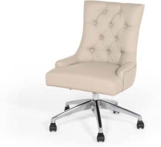 An Image of Flynn Office Chair, Putty Beige PU