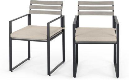 An Image of Catania Garden set of 2 Garden Dining Chair, Polywood