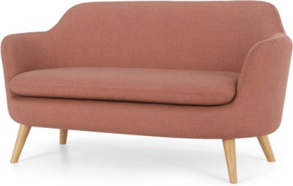 An Image of Nya 2 Seater Sofa, Rust Pink Weave