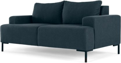 An Image of MADE Essentials Oskar 2 Seater Sofa, Aegean Blue