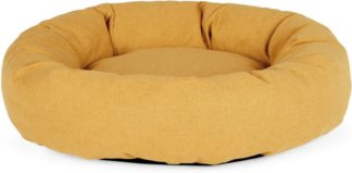 An Image of Kysler Large Round Pet Bed, Mustard