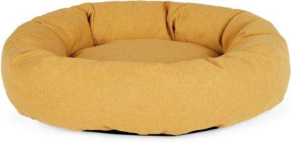 An Image of Kysler Large Round Pet Bed, Mustard