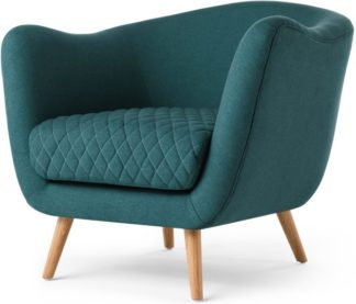 An Image of Flick Accent Chair, Mineral Blue