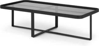 An Image of Aula Rectangular Coffee Table, Black & Grey