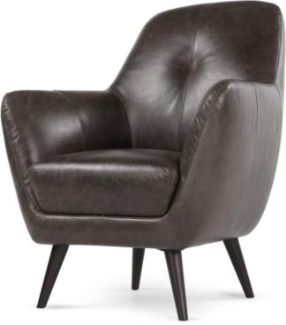 An Image of Prado Accent Chair, Antique Grey Leather