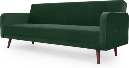 An Image of Chou Click Clack Sofa Bed, Velvet Pine Green