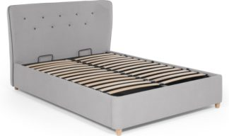 An Image of Burcot King Size Storage Bed, Contrast Grey