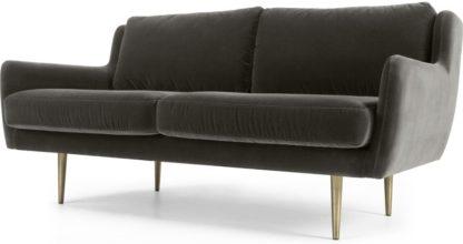 An Image of Simone 2 Seater Sofa, Concrete Cotton Velvet