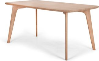 An Image of Fjord 6 Seat Rectangle Dining Table, Oak