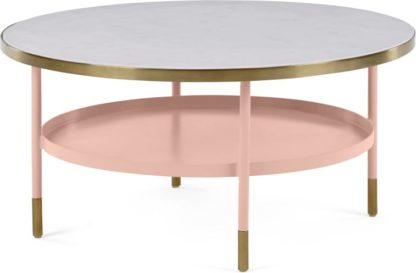 An Image of Fox Coffee table, Pink and Marble