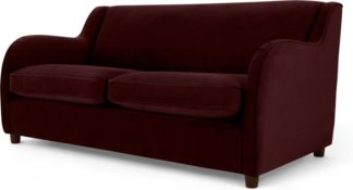 An Image of Helena Sofabed, Plush Burgundy Velvet