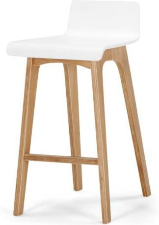 An Image of Devlin Barstool, White and Ash