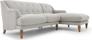 An Image of Ariana Right Hand Facing Chaise End Corner Sofa, Chic Grey