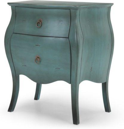 An Image of Bourbon Bedside Table, Azure Blue