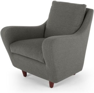 An Image of Slump Accent Armchair, Nickel Grey