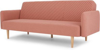 An Image of Ryson Click Clack Sofa Bed with Arms, Dusk Pink